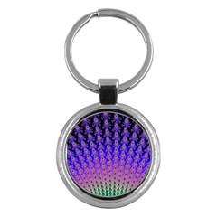 Rainbow Fan Key Chain (round) by UROCKtheWorldDesign