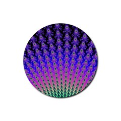 Rainbow Fan Drink Coasters 4 Pack (Round) by UROCKtheWorldDesign