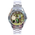 green, nature - Stainless Steel Analogue Watch
