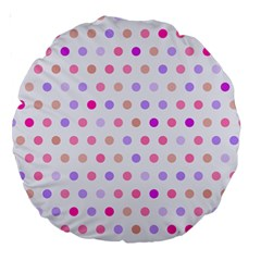 Love Dots 18  Premium Round Cushion  by houseofjennifercontests