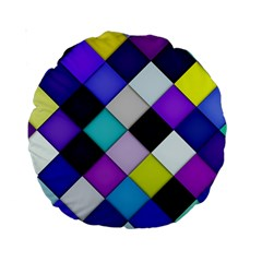 Quilted With Halftone 15  Premium Round Cushion  by houseofjennifercontests