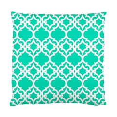 Lattice Stars In Teal Cushion Case (single Sided)  by Contest1878042