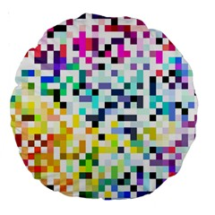 Pixelated 18  Premium Round Cushion  by Contest1878042
