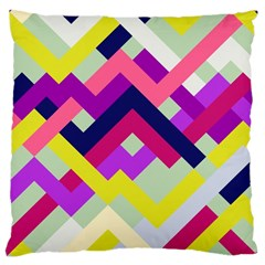 Pink & Yellow No. 1 Large Cushion Case (Two Sided)  by Contest1878042