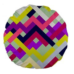 Pink & Yellow No  1 18  Premium Round Cushion  by Contest1878042