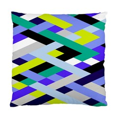 Smart Diagonals In Lime Cushion Case (two Sided)  by Contest1878042