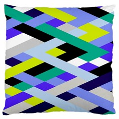 Smart Diagonals In Lime Large Cushion Case (two Sided)  by Contest1878042