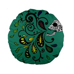 Skull Scream 15  Premium Round Cushion  by Contest1871380