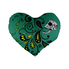 Skull Scream 16  Premium Heart Shape Cushion  by Contest1871380