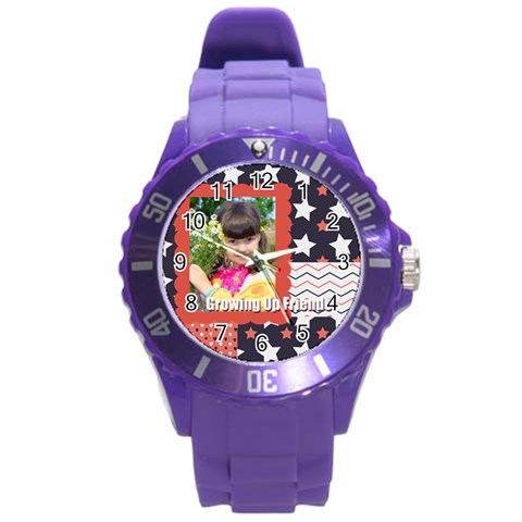 Kids By Kids   Round Plastic Sport Watch (l)   R1gcmoat8t7n   Www Artscow Com Front
