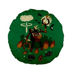 Dino Wars  15  Premium Round Cushion  by Contest1878722