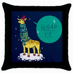 Wrap Up  Black Throw Pillow Case by Contest1878722