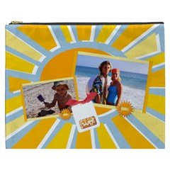 Beach Vacation Summer Xxxl Cosmetic Bag By Mikki   Cosmetic Bag (xxxl)   Yqhysgsewa5b   Www Artscow Com Front