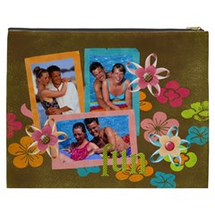Tropical Fun Flowers Xxxl Cosmetic Bag By Mikki   Cosmetic Bag (xxxl)   He25azufcdq6   Www Artscow Com Back