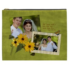Love Daisy Poem Xxxl Cosmetic Bag By Mikki   Cosmetic Bag (xxxl)   35enzx5v9v7u   Www Artscow Com Front