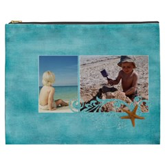 Beach Ocean Vacation Xxxl Cosmetic Bag By Mikki   Cosmetic Bag (xxxl)   Du2ru53mmb35   Www Artscow Com Front