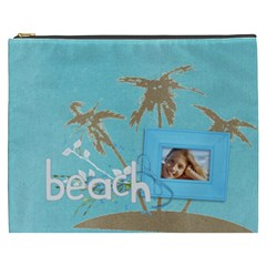 Beach Vacation Xxxl Cosmetic Bag By Mikki   Cosmetic Bag (xxxl)   Jyn8ed8i9oz9   Www Artscow Com Front