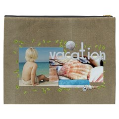 Beach Vacation Xxxl Cosmetic Bag By Mikki   Cosmetic Bag (xxxl)   Jyn8ed8i9oz9   Www Artscow Com Back