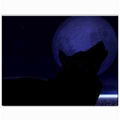 Howling Wolf Canvas 11  X 14  (unframed) by crypt
