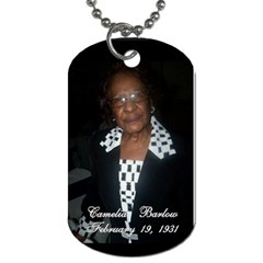 Mother And Daughter Team By Quiana Ganter   Dog Tag (two Sides)   Onip8rebk2v9   Www Artscow Com Back