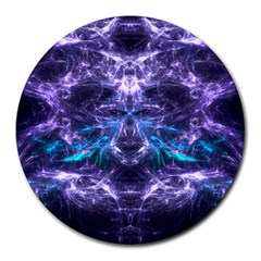 Skull And Monster 8  Mouse Pad (round) by crypt
