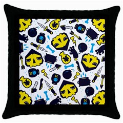 Assassins Pattern Black Throw Pillow Case by Contest1853704