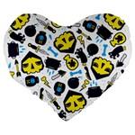 Assassins Pattern 19  Premium Heart Shape Cushion Back