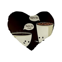 Coffee Love 16  Premium Heart Shape Cushion  by Contest1714880