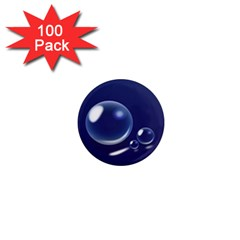 Bubbles 7 1  Mini Button Magnet (100 Pack) by NickGreenaway