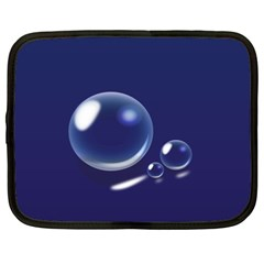 Bubbles 7 Netbook Sleeve (xxl) by NickGreenaway