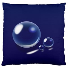 Bubbles 7 Large Cushion Case (two Sided)  by NickGreenaway