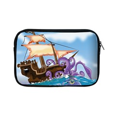 Piratepirate Ship Attacked By Giant Squid  Apple Ipad Mini Zippered Sleeve by NickGreenaway