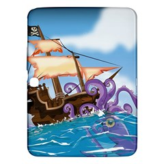 Piratepirate Ship Attacked By Giant Squid  Samsung Galaxy Tab 3 (10 1 ) P5200 Hardshell Case  by NickGreenaway