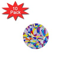 Fractured Facade 1  Mini Button (10 Pack) by StuffOrSomething