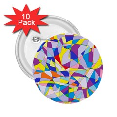 Fractured Facade 2 25  Button (10 Pack) by StuffOrSomething