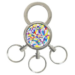 Fractured Facade 3 Ring Key Chain by StuffOrSomething