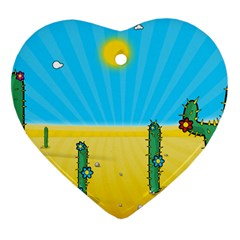 Cactus Heart Ornament by NickGreenaway