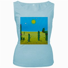 Cactus Women s Tank Top (baby Blue) by NickGreenaway