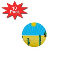 Cactus 1  Mini Button (10 Pack) by NickGreenaway