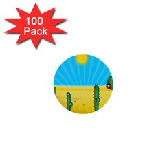 Cactus 1  Mini Button (100 Pack) by NickGreenaway