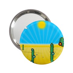 Cactus Handbag Mirror (2 25 ) by NickGreenaway