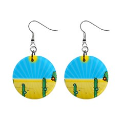 Cactus Mini Button Earrings