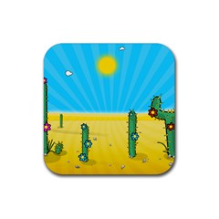 Cactus Drink Coaster (square) by NickGreenaway