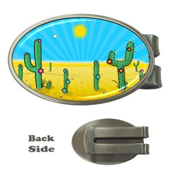 Cactus Money Clip (oval) by NickGreenaway