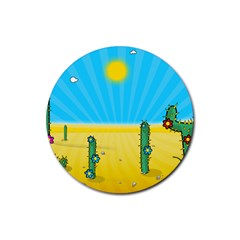 Cactus Drink Coasters 4 Pack (round) by NickGreenaway