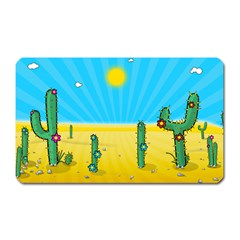 Cactus Magnet (rectangular) by NickGreenaway