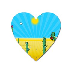 Cactus Magnet (heart) by NickGreenaway