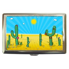 Cactus Cigarette Money Case by NickGreenaway