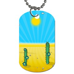 Cactus Dog Tag (two Sided)  by NickGreenaway