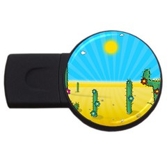 Cactus 2gb Usb Flash Drive (round) by NickGreenaway
